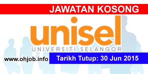 Jawatan Kerja Kosong University of Selangor (UNISEL) logo www.ohjob.info jun 2015