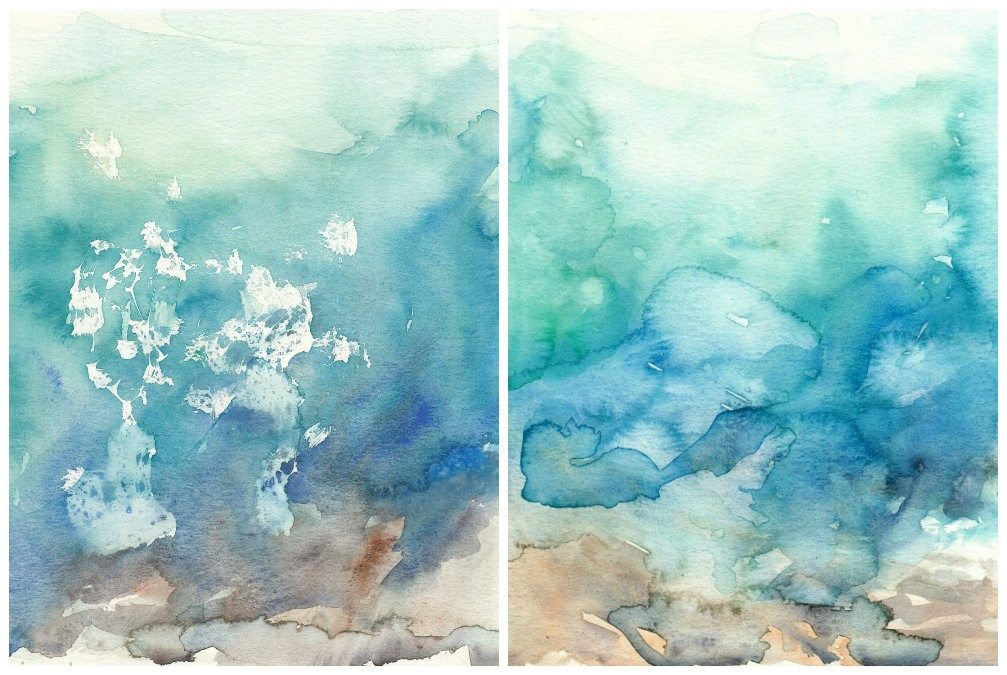Original Watercolor Ocean Paintings by Elise Engh (Grow Creative)