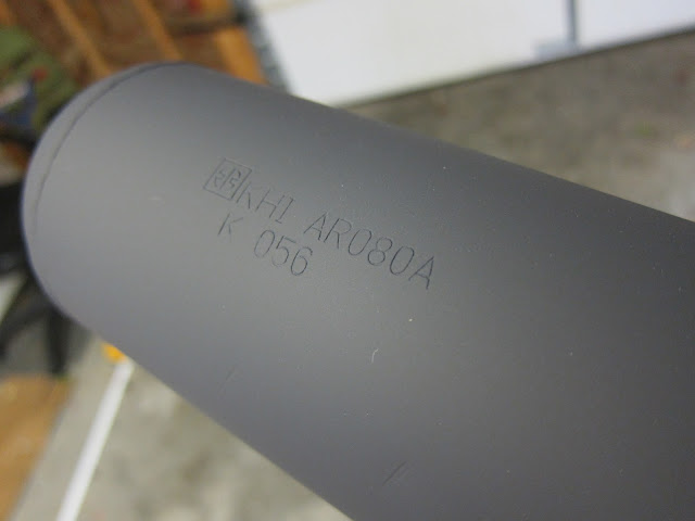 AR80 exhaust pipe painted with VHT flat black exhaust paint