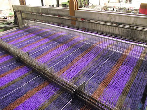 Cushendale Mills, on the loom