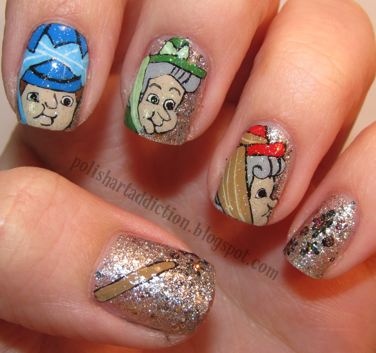 Sleeping Beauty Nail Art: In The Sunlight They Really Sparkle