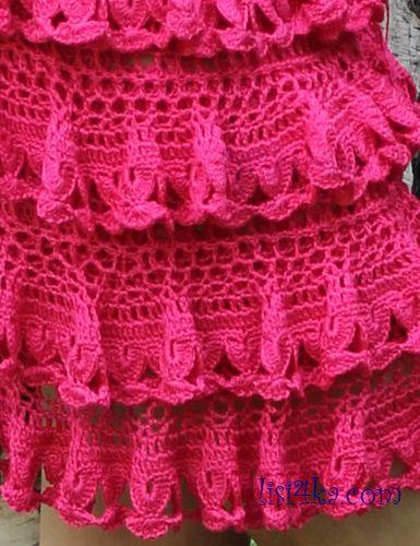 к вязанию юбки с воланами