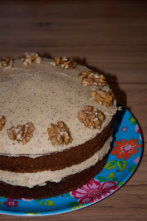 Decaff Coffee and walnut cake