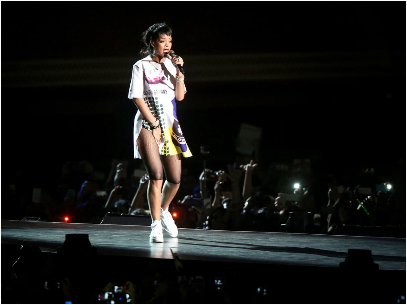 00o00 menswear blog: Rihanna in Raf Simons - Singapore F1 Grand Prix 2013