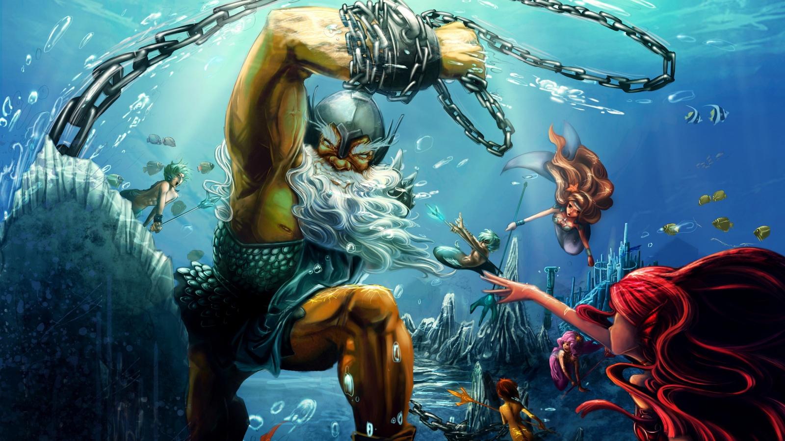 poseidon vs the kraken - photo #18