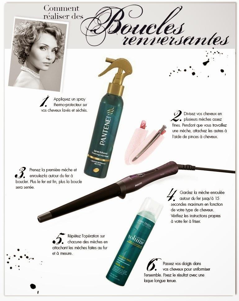 tutoriel, conseils, astuces et produits pour obtenir une coiffure parfaite avec de boucles renversantes