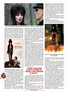 Page 38 from Fangoria #344 featuring Elvira