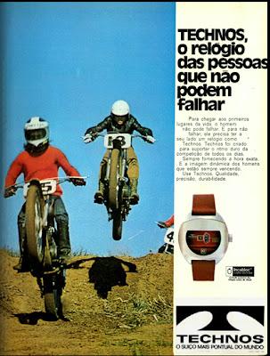 propaganda relógios Technos - 1973. decada de 70.  1973; os anos 70; propaganda na década de 70; Brazil in the 70s, história anos 70; Oswaldo Hernandez;