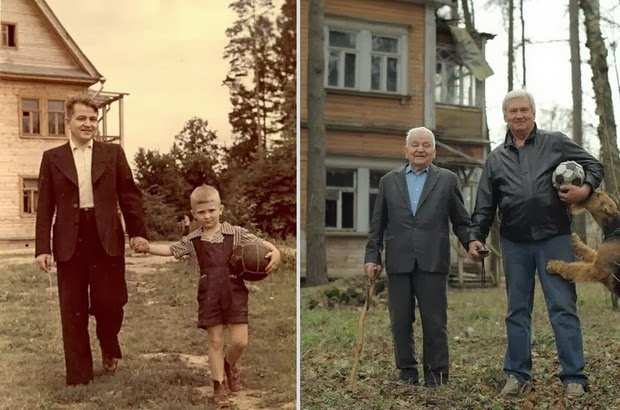 Father and son (1949 vs 2009)
