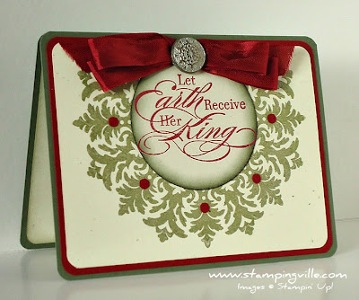 Christmas Card With The Sounding Joy Stamp Set by Stampin' Up!