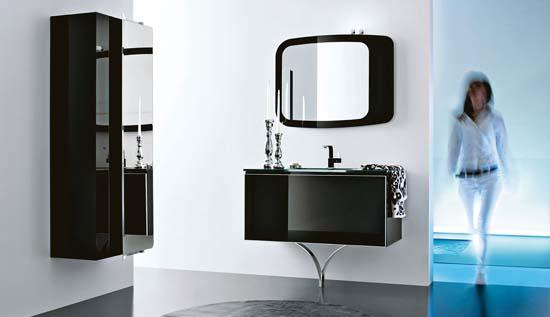 Dise os de ba os y accesorios en colores negro y azul for Banos modernos negro