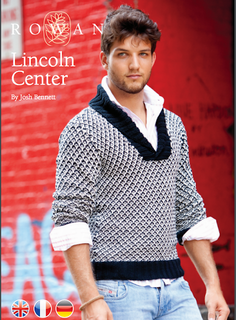The Vintage Pattern Files Free 1950's Style Knitting Pattern Lincoln Center Mens Shawl Neck Sweater