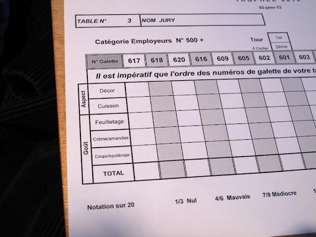 Concours meilleure galette frangipane 2013 Ile de France