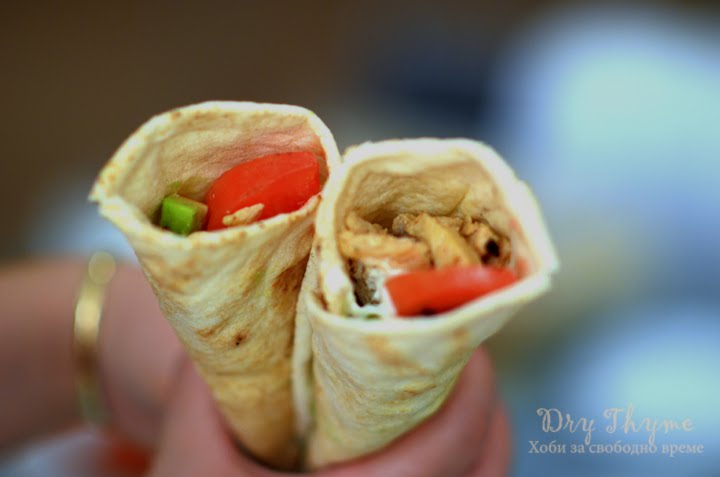 Homemade Chicken Doner Kebab