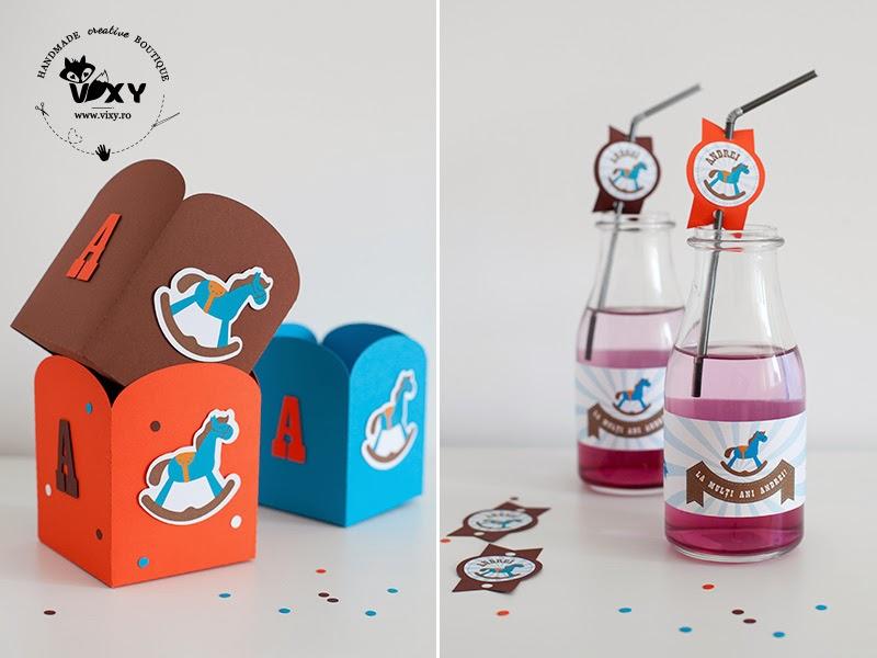 cutie popcorn caluti, petrecere caluti, petrecere cai, etichete personalizate petrecere