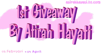 1st Giveaway by Atirah Hayati