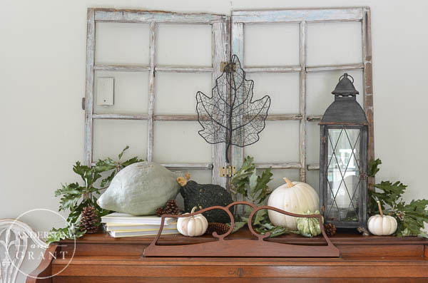 Are you trying to create a neutral color palette this fall?  Look at this post from anderson + grant to see how to use shades of green and cream in your autumn decor.