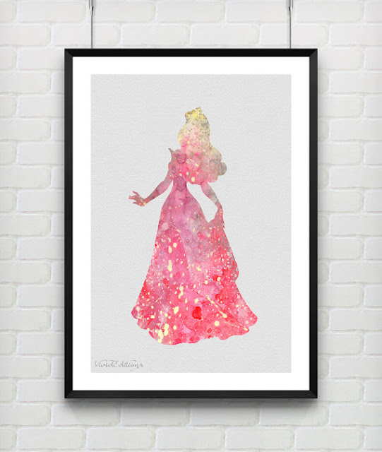 Disney Sleeping Beauty watercolor