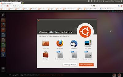 Probar Ubuntu 11.10 Oneiric Ocelot desde le navegador