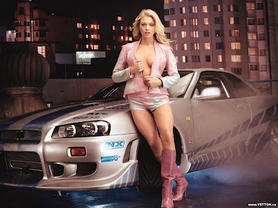 My Cars Wallapers: Girls And Cars Wallpaper