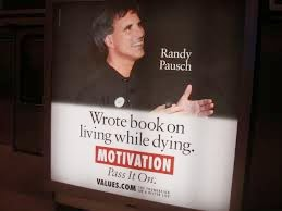 randy pausch wrote a book on living while dying