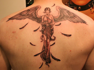 Angel Tattoo For Mens