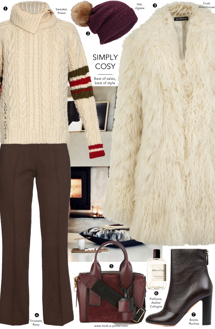 tyle chunky knits, wool trousers and fur coats via www.look-a-porter.com style & fashion blog