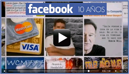 Facebook premia con un video por sus 10 años