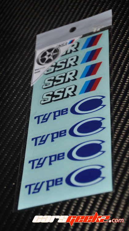 SSR Type C and Type C-RS sticker decal