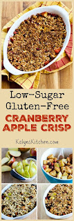 Low-Sugar and Gluten-Free Cranberry Apple Crisp [found on KalynsKitchen.com]