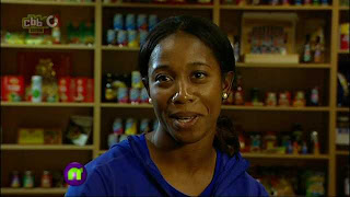 Shelly-Ann Fraser-Pryce on Newsround 6 August 2011