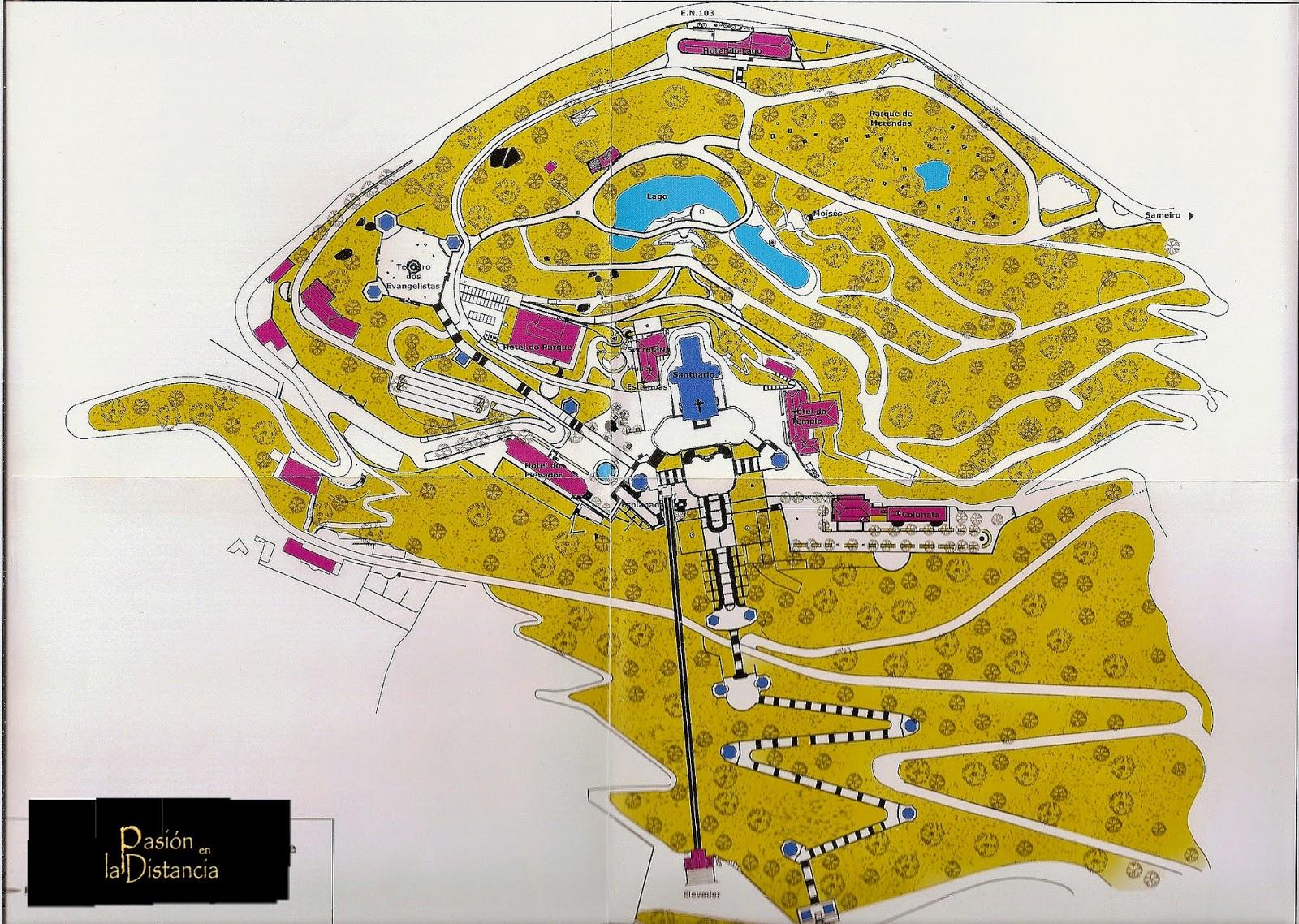 Plano completo del Bom Jesú do Monte - Braga