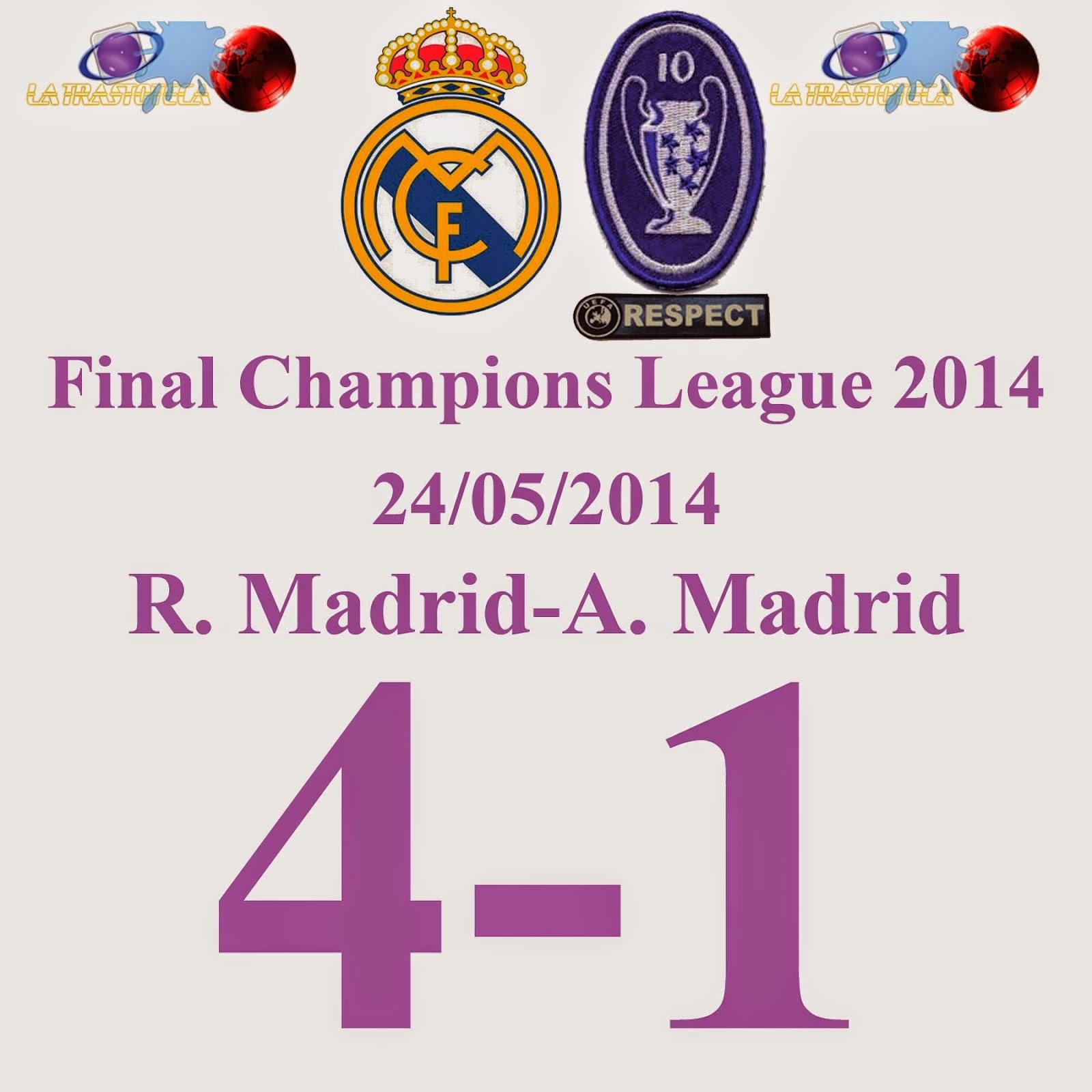 Los goles de la décima. Real Madrid 4-1 Atlético Madrid