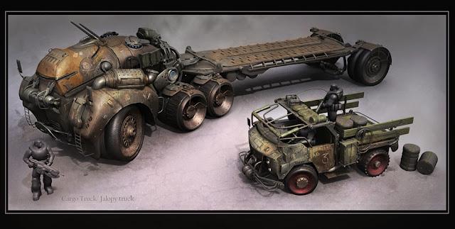 gow3 truck concept art