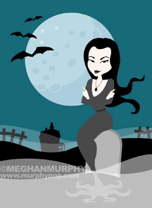 Spooky Gals: Morticia por MeghanMurphy
