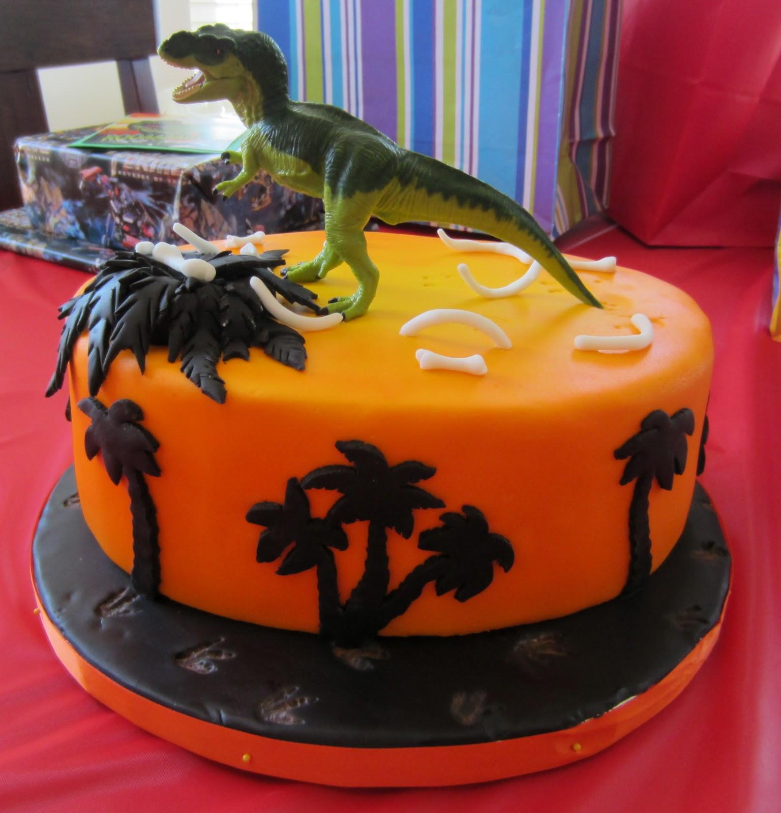 Js Cakes TRex Sunset Cake
