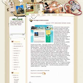 Start to Finnish blogger template