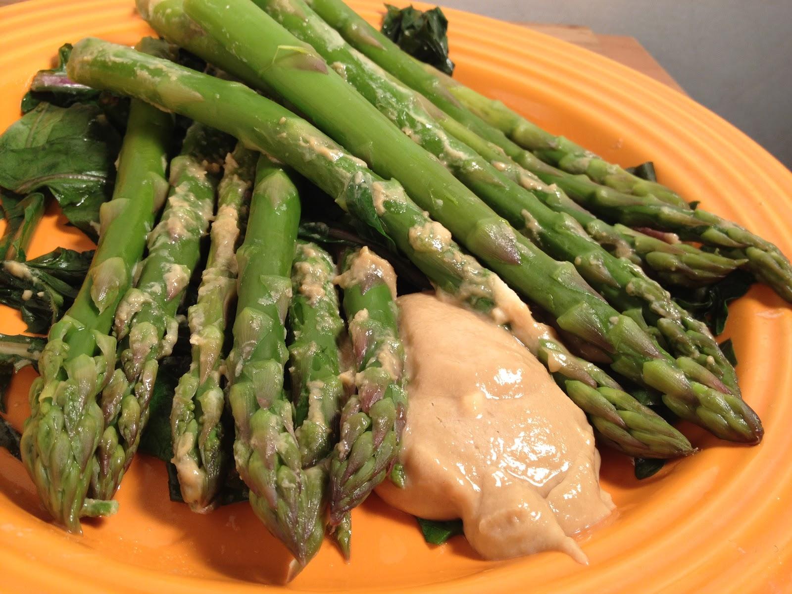 Vegan day 77: Asparagus with lemon- tahini dressing | Eating From ...