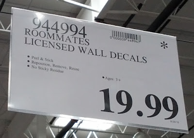 Deal for Roommates Mega Pack Peel and Stick Wall Decals at Costco