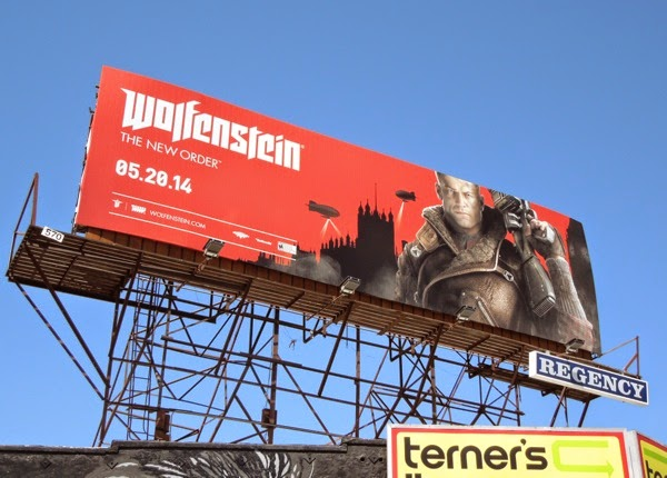 Wolfenstein New Order video game billboard