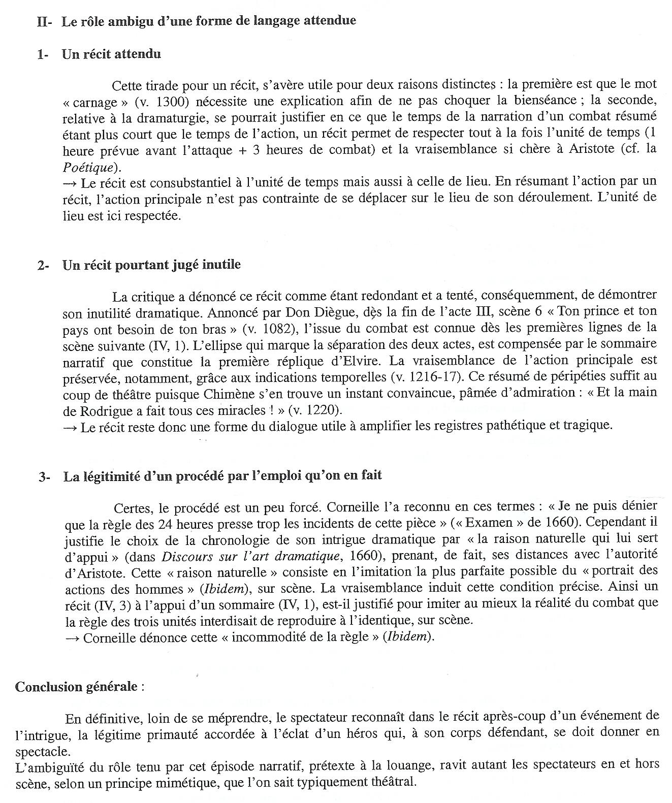 texte 8 le cid p corneille acte iv sc 232 ne 3 1637