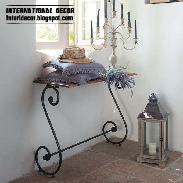 Cool Furniture Ideas Part - 19: iron shelves, wrought iron forged furniture designs