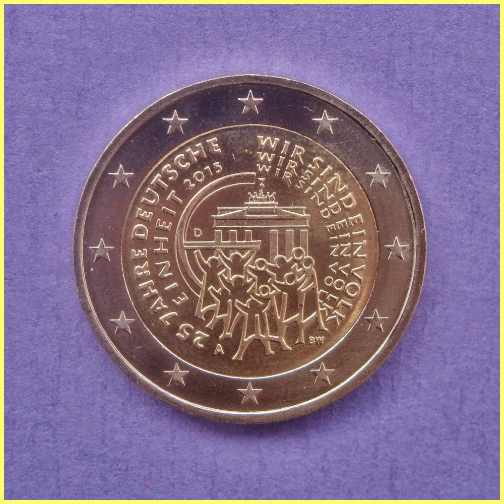 2 Euros Alemania 2015 Reunificación