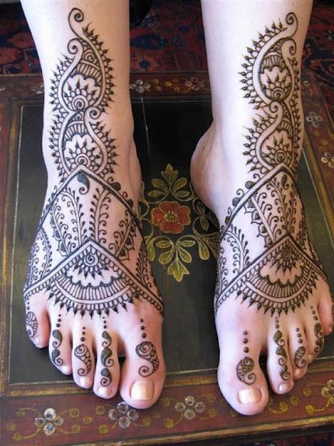 Rajasthani Feet Mehndi designs 2012