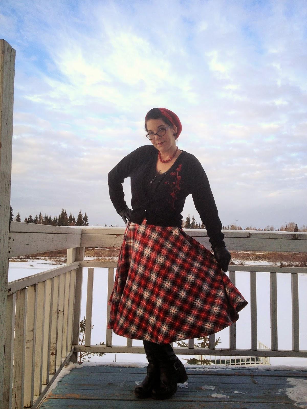 1950's winter skirt