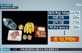Compra con dos horas de trabajo en Corea del Sur