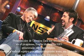 Dómina Zara, entrevistada en 2005, Madrid,  por Dani Mateo en el programa: Noche sin Tregua