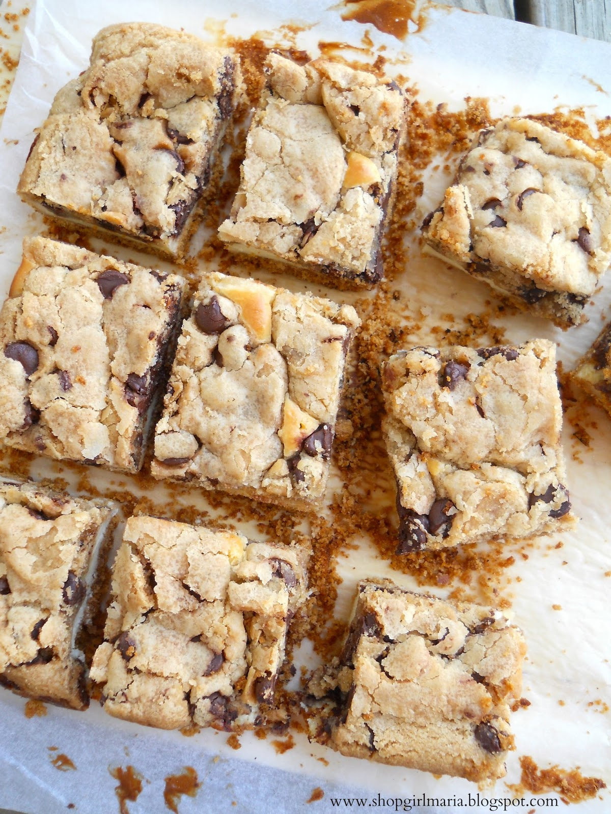 Chocolate Chip Cookie Dough Cheesecake Bars | A Homemade ...