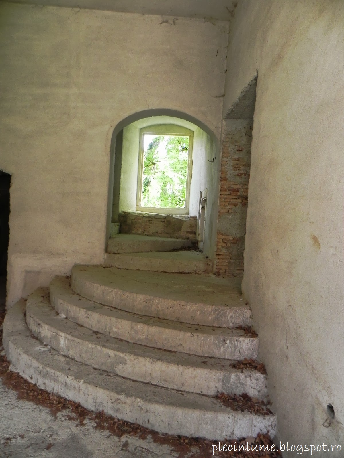 Scara interioara in castel