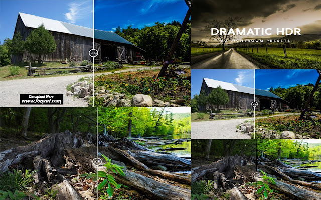 Dramatic HDR Lightroom Presets 20 different presets | Adobe Lightroom 4, 5, 6, and CC